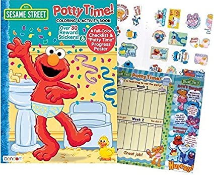 Elmos Sesame Street QuotPotty Timequot Coloring And Activity Book With Over 30 Stickers