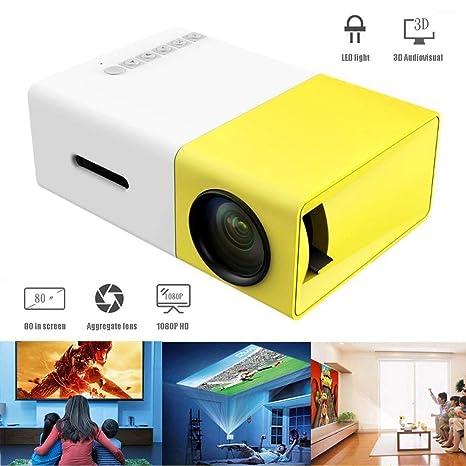 Mini proyector, proyector de Video portátil LED a Todo Color con ...