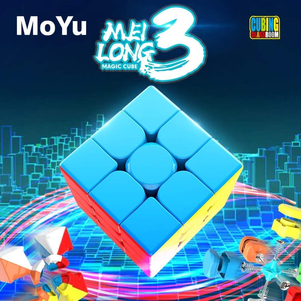 OJIN MoYu MoFang JiaoShi Meilong 3 3x3x3 Cubo mágico Cubing Aula Sin Problemas Rápido Twsit Puzzle Enigma Cerezo Cubo Velocidad Cubo Puzzle (Sin Etiqueta): Amazon.es: Juguetes y juegos