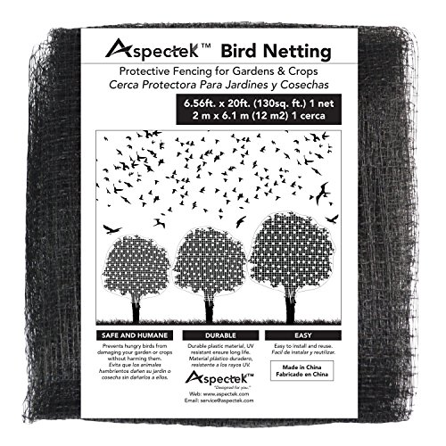 Bird Netting Protective Fencing for Gardens and Crops, 7 X 20 Feet Netting Bird Block Garden Fence