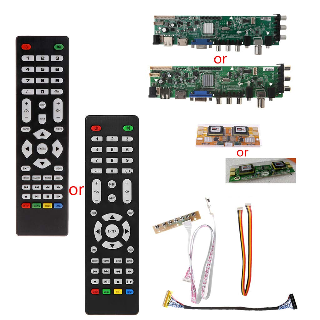 V56 V59 LCD TV Driver Board DVB-T2+7 Key Switch+IR+4 Lamp Inverter+LVDS Kit 3663: LGGYU: Amazon.es: Industria, empresas y ciencia