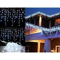 Cascata de Luz Led 400 LED 4x2.2m Fixa Branco Frio 220v