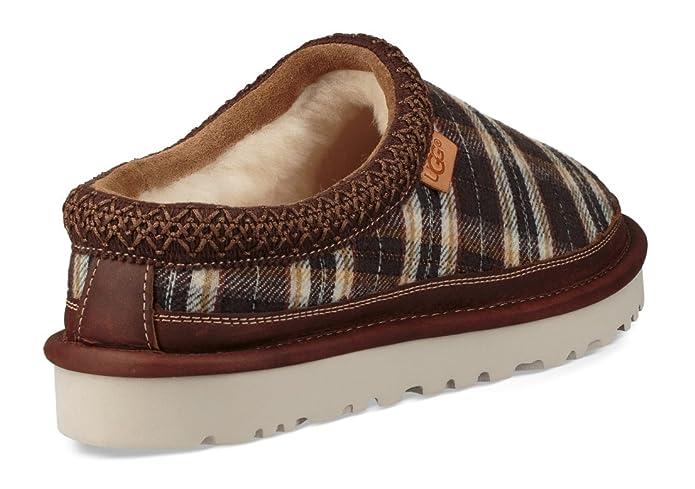 Amazon.com | UGG Tasman Plaid Mens Slipper 8 D(M) US Chestnut-Plaid | Slippers