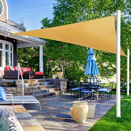 Ohuhu Vela de Sombra, Vela de Sombra Triángulo 3, 6 x 3, 6 x 3, 6 m con Kit instalación, Protección Rayos UV, Toldo Resistente e Lmpermeable, para Patio, Exteriores, Jardín: Amazon.es: Jardín