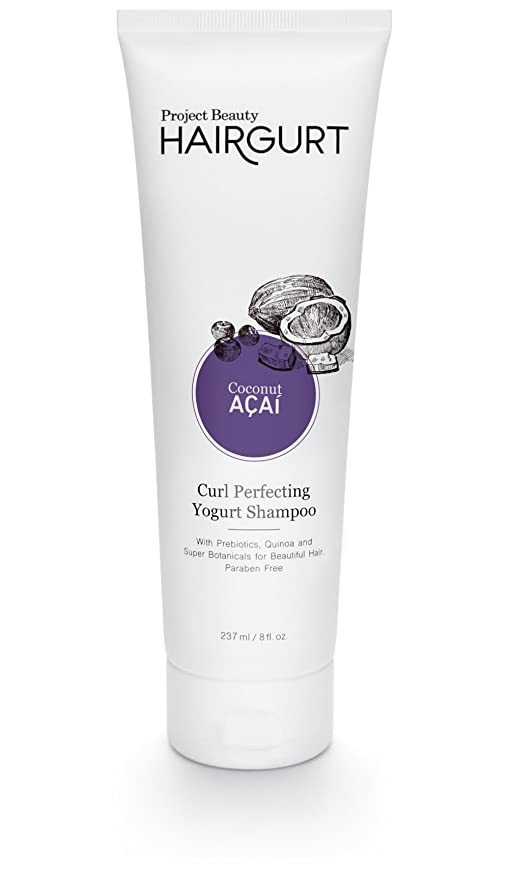 Hairgurt Curl Perfecting Yogurt Shampoo For Curly, Coily and Wavy Hair Repair; For The Appearance Of Noticeably Thicker, Fuller Hair Even On Color Treated Hair. Sulfate-Free (237 ml / 8 oz)