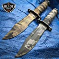 2 PC Military Camo Tactical Fishing Hunting For Practical Use iCareYou Durable Knife Survival Kit Blade w/ Sheath