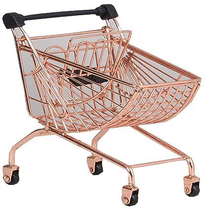 Amazon.com: Blancho Bedding Mini Shopping Cart Toy Mini Supermarket Handcart , Desktop Storage,Rose Gold #15: Toys & Games