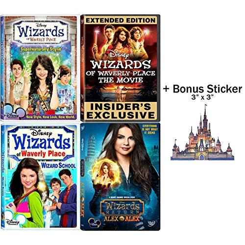 Wizards of Waverly Place: TV Episodes & Movies DVD Collection with Bonus Sticker