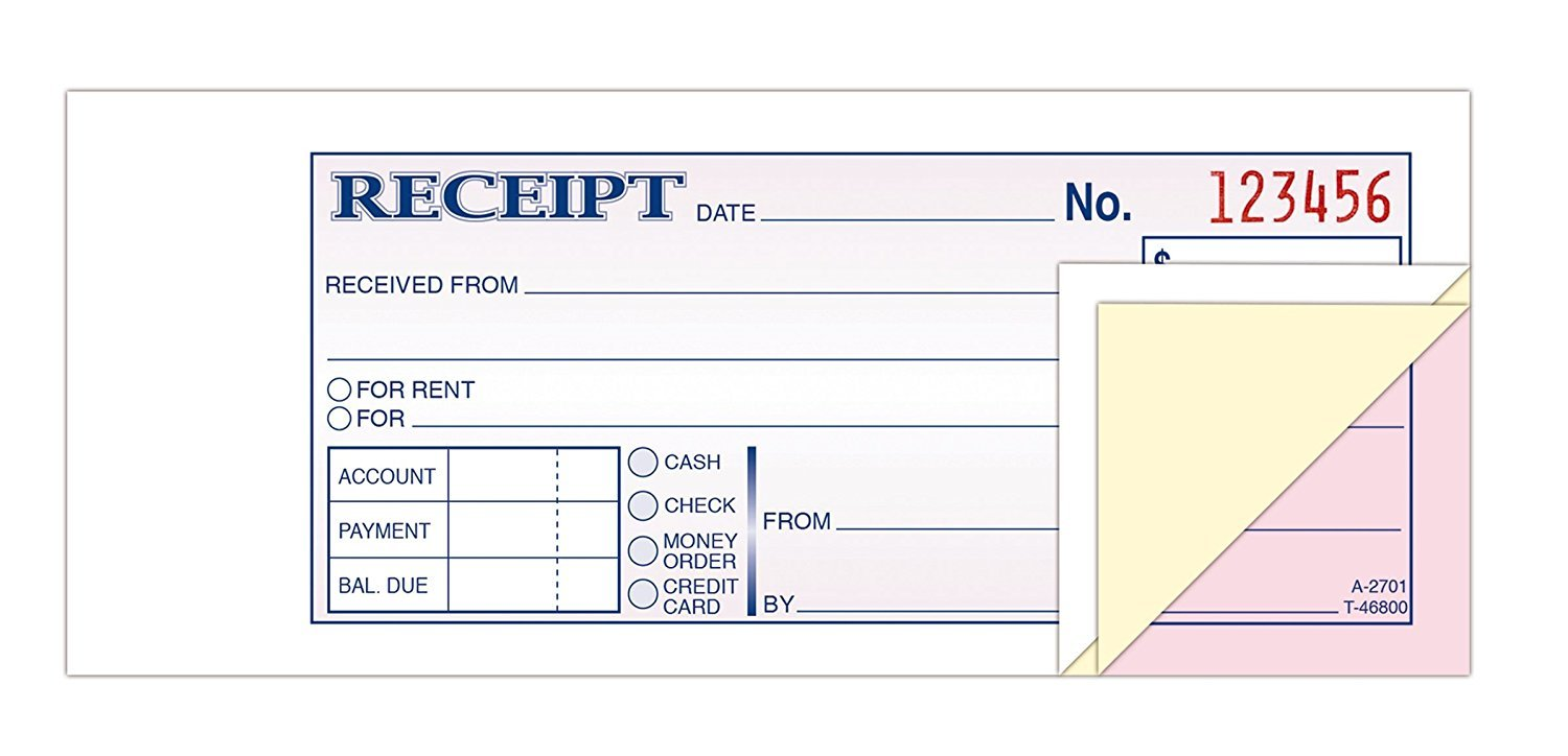 com adams money rent receipt book carbonless part  com adams money rent receipt book carbonless 3 part 2 3 4 x 7 3 16 inches 50 sets per book tc2701 blank receipt forms office products
