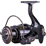Sougayilang Fishing Reel Spinning Reels with CNC Machined Aluminum Spool 13+1 BB Light Weight Ultra Smooth Powerful for Boat Rock Freshwater Saltwater Fishing