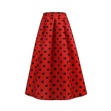 Sylar Faldas Largas Lunares Faldas Largas Mujer Fiesta Elegante ...