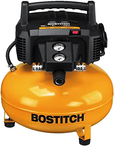 BOSTITCH U BTFP02012 6 gallon Pancake Compressor Renewed