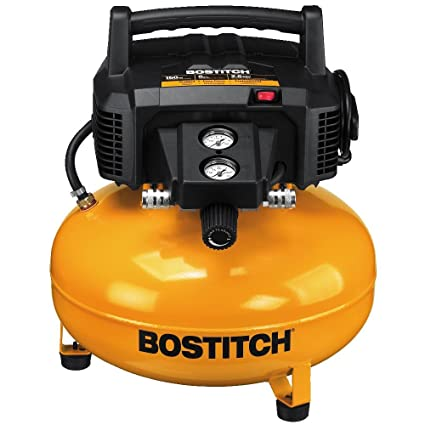 How To Use An Air Compressor >> Bostitch Pancake Air Compressor Oil Free 6 Gallon 150 Psi Btfp02012