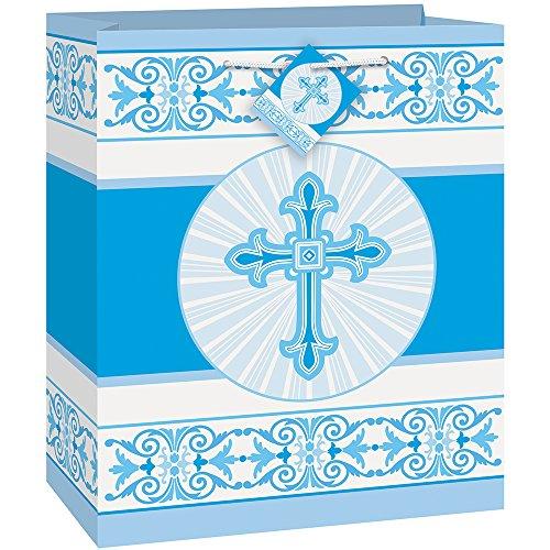 Radiant Blue Cross Religious Gift Bag -