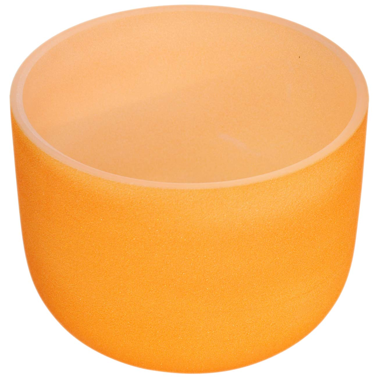 440/Hz 20/cm givr/é Couleur Orange Perfect Pitch D Note Chakra sacr/é Bol chantant en cristal /à quartz Bol chantant avec joint torique et de nouveaux Cristal Maillet