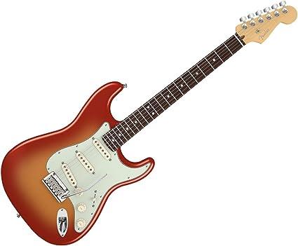 Fender americandeluxe Strat guitarra eléctrica puesta de sol ...