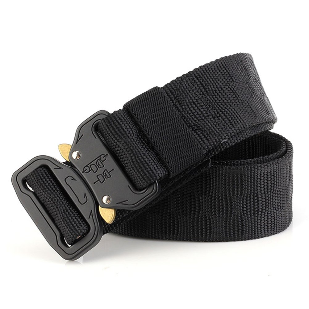Thickyuan Men's Tactical Belt Heavy Duty Webbing Belt Adjustable Military Style Nylon Belts with Metal Buckle|MOLLE Tactical CQB Rigger|multiple choices by Thickyuan (Image #5)