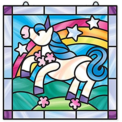 Melissa & Doug Unicorn: Stained Glass Made Easy Series & 1 Scratch Art Mini-Pad Bundle (09299): Toys & Games