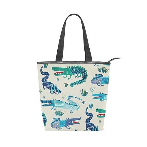 Amazon.com: Croc Rock - Bolso con asa de lona marina, bolsa ...