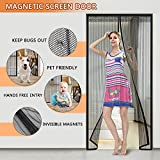 #6: Magnetic Screen Door with Heavy Duty Curtain and Full Frame Velcro Fits Door Size Up to 39
