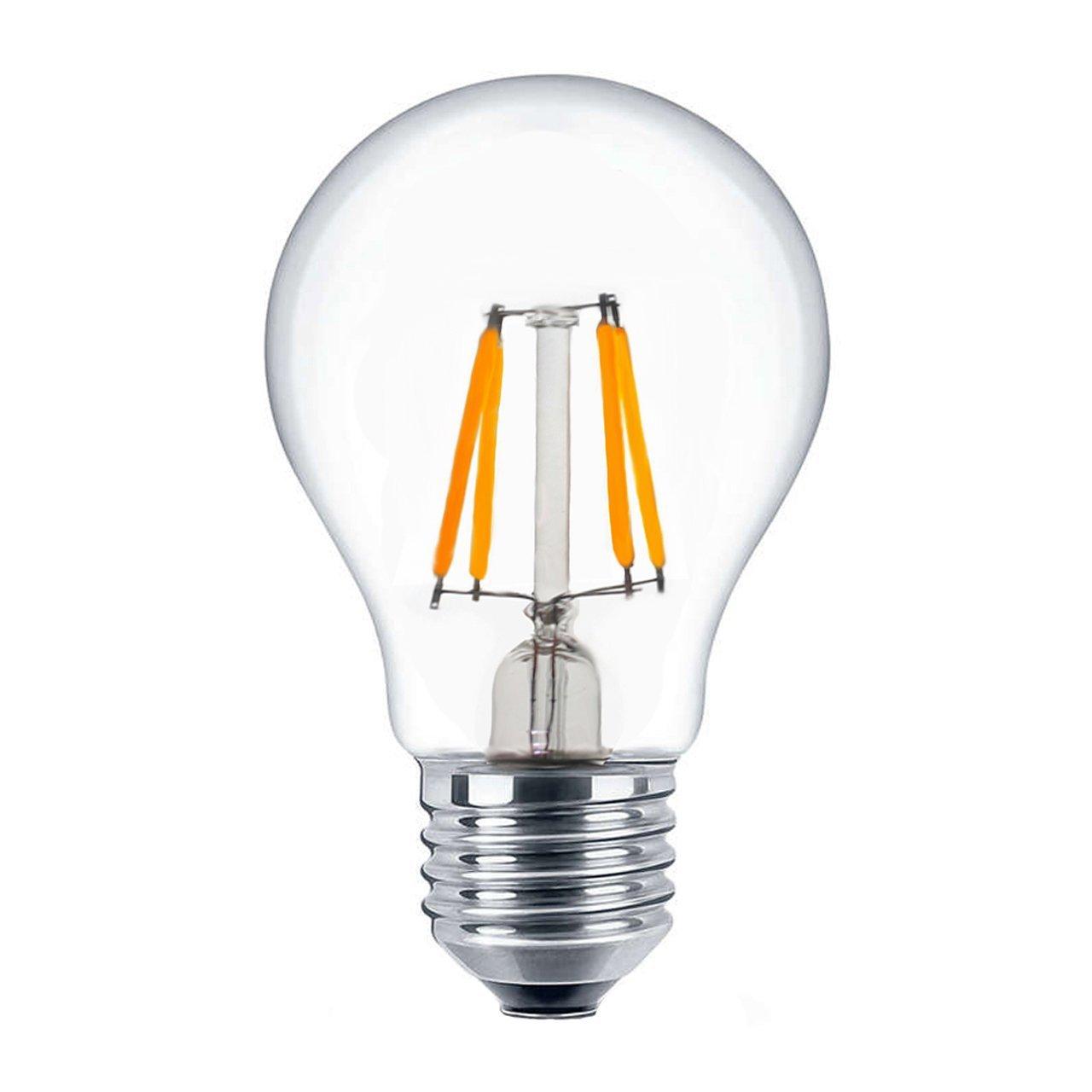 CTKcom Vintage Edison LED Light Bulbs 4W(4 Pack)- A19 Antique Globe Bulbs 40W Equivalent Warm White 2700K Lamps,for Home Light Fixtures Squirrel Cage Filament 110V E26/E27 Base