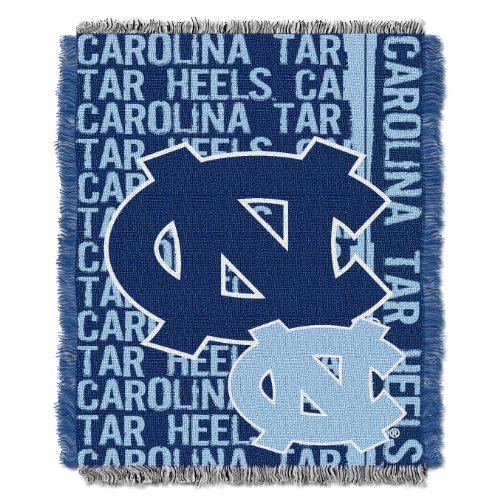 (The Northwest Company Officially Licensed NCAA North Carolina Tar Heels Double Play Jacquard Throw Blanket, 48