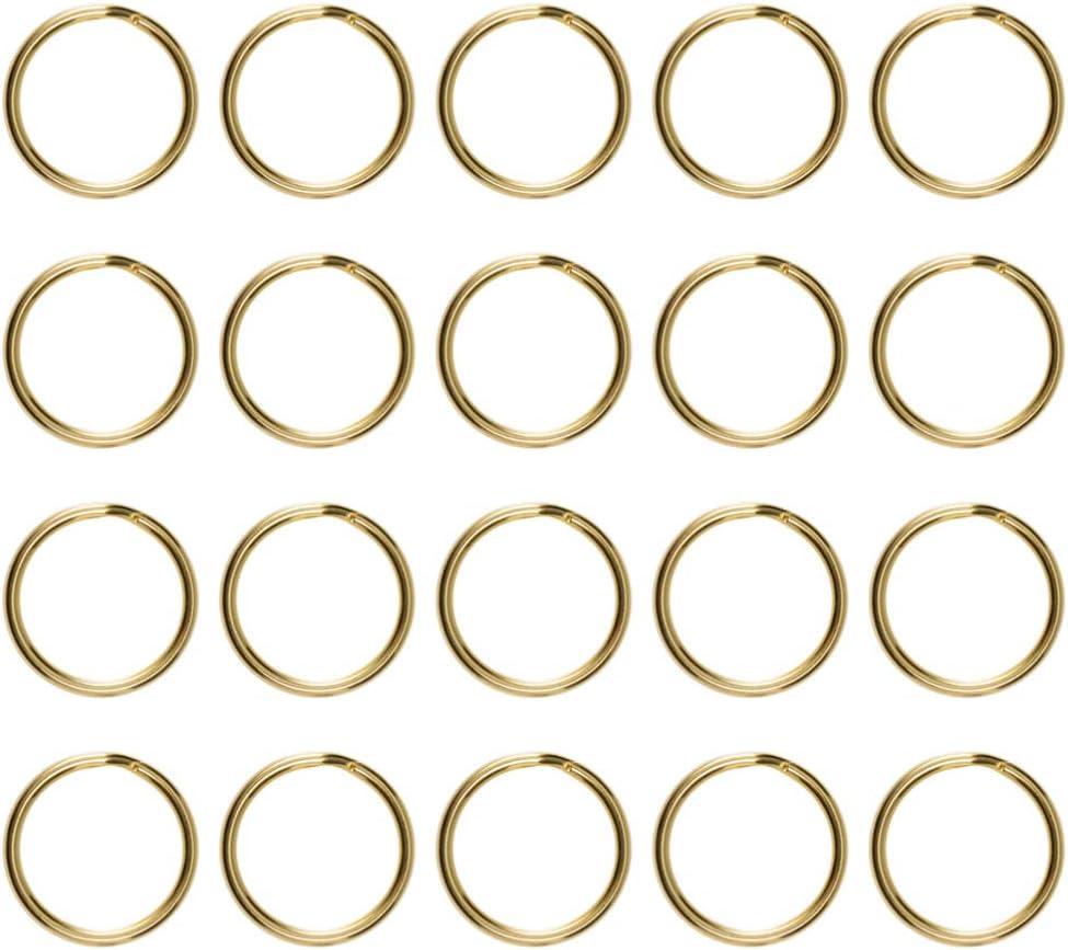 VOSAREA 20Pcs Anelli Spaccati Anelli Aperti di Salto Portachiavi Anelli per La Creazione di Gioielli per Portachiavi Artigianali Fai da Te