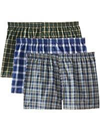 Men's BigMan Woven Boxer(Pack of 3)