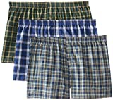 Fruit of the Loom Men's BigMan Woven Boxer, Assorted, 4XB(Pack of 3)