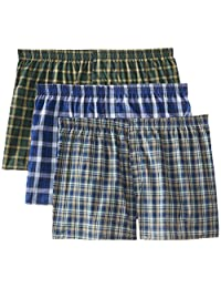 Fruit of the Loom 3 Pack Big Man Woven Boxer Bóxer para Hombre