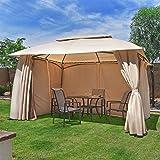 Barton 10 x 13 FT Garden Gazebo, Fully Enclosed w/Mosquito Netting