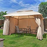 Barton 10'x13' Garden Gazebo Fully Enclosed w/Mosquito Netting Deal (Small Image)