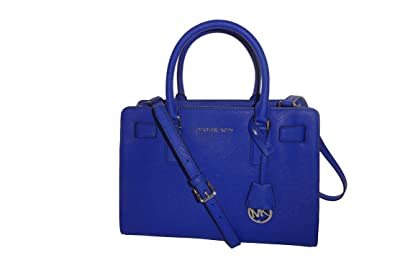 Michael Michael Kors Dillon Top Zip East West Satchel Leather Bag Electric  Blue