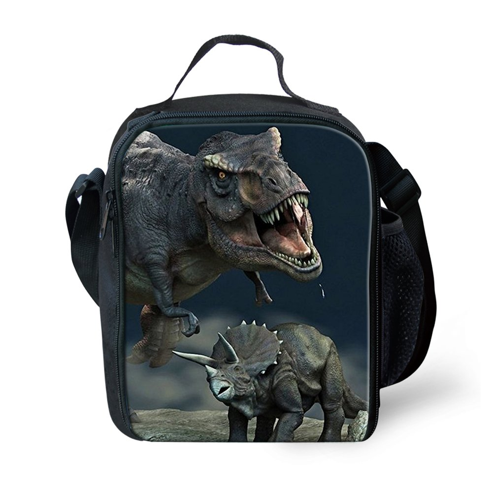 3D Dinosaur Insulated Lunch Bag for Kids Boys Girls Animal Printed Cool Child Lunchbox Tote Food Container Cooler Boxes