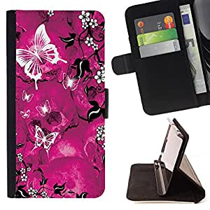 Dragon Case- Mappen-Kasten-Wallet Case Folio Flip Leather Case Cover Protective Shell FOR Samsung GALAXY ALPHA G850 SM-G850F G850Y G850M- Butterfly Fly Beautiful Colorful