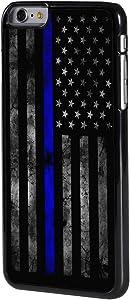 "iPhone 6/6s Plus Case,BOSLIVE Old Retro Thin Blue Line American Flag Design Hard Plastic Cover Anti-Scratch Protective Phone Case Compatible iPhone 6/6s Plus 5.5"""