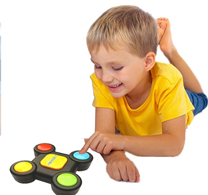 Luccase Kreativit/äts P/ädagogisches Ged/ächtnisspiel mit Lichtern T/önen Toy Quiz Game Bunte ABS Kunststoff Memory Lernspielzeug f/ür Kleinkinder A