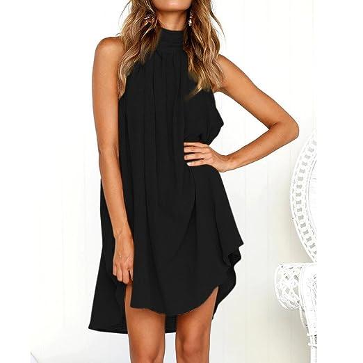 e078c7ed066a8d iTLOTL Womens Holiday Irregular Dress Ladies Summer Beach Sleeveless Party  Dress(US 10