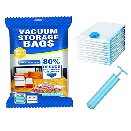 Bolsas de almacenaje al vacío, (3 Jumbo (120x80cm) + 4 Grandes (