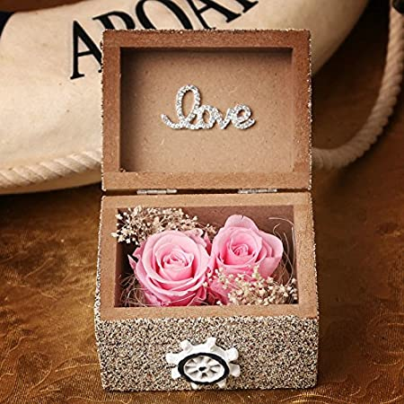 Kiu Romantic Sailing Sandstorm Cartridge Rose Fresh And Dried Flowers Courier Creative Gifts Girlfriend