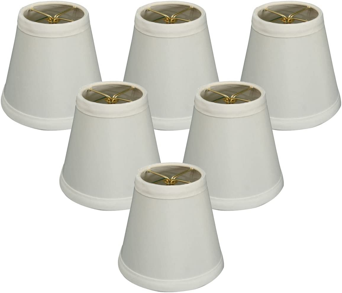 Royal Designs Empire Clip On Chandelier Lamp Shade White 3 X 4 25 X 4 25 Cs 981 5wh 6