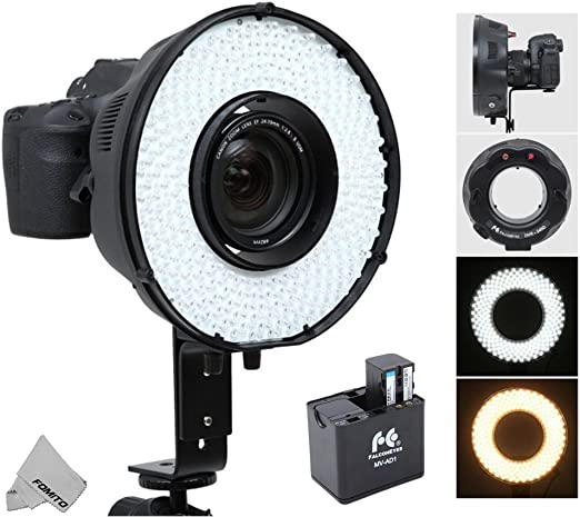 Fomito Portable LED Macro Ring Flash Light for Canon, Nikon, Sony, Pentax