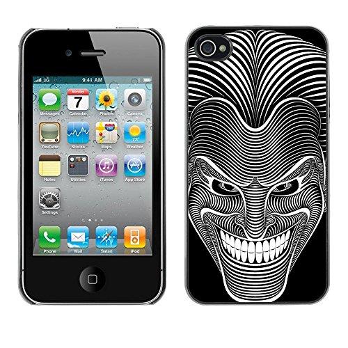 Cool Joker Illustration Art - For Apple iPhone 4 / 4S