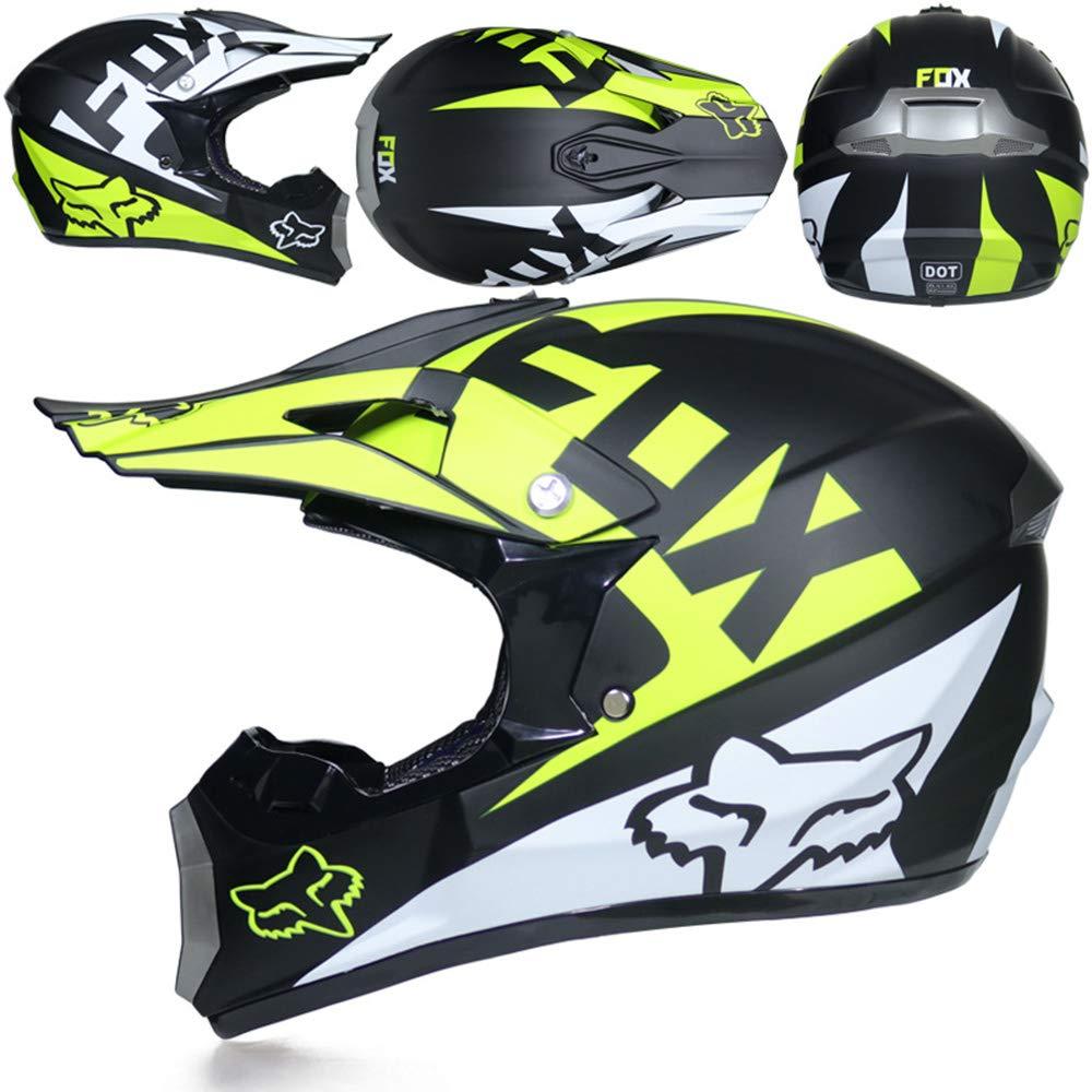 CFYBAO Moto Casque Off-Road Masques Cadeaux Masque Gants Motocross Racing Casque int/égral pour Homme et Femme
