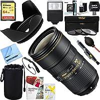 Nikon 20052 24-70mm f/2.8E ED VR AF-S NIKKOR Zoom Lens for DSLR Cameras + 64GB Ultimate Filter & Flash Photography Bundle