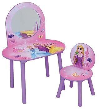 FUN HOUSE Disney Princesses Coiffeuse avec Chaise pour Enfant, MDF ...