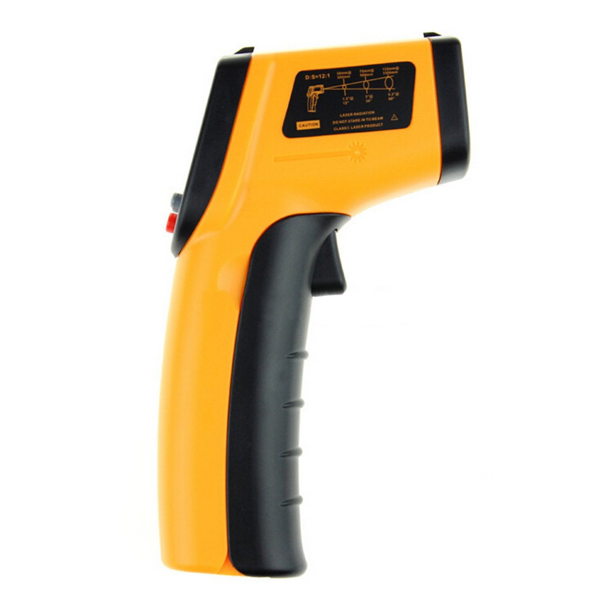 Masione Temperature Gun Non-contact Digital Laser Infrared Ir Thermometer -58°f to 716°f (-50 ~ 380℃) Instant-read Handheld,battery Included by Masione