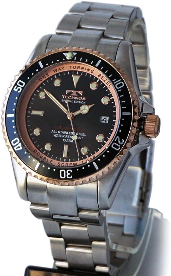 Amazon Co Jp Technos Men S Men S T4467sh Black 15 Atm Water Resistant 3 Hand Date Display Luminous Quartz Watch Wrist Watches