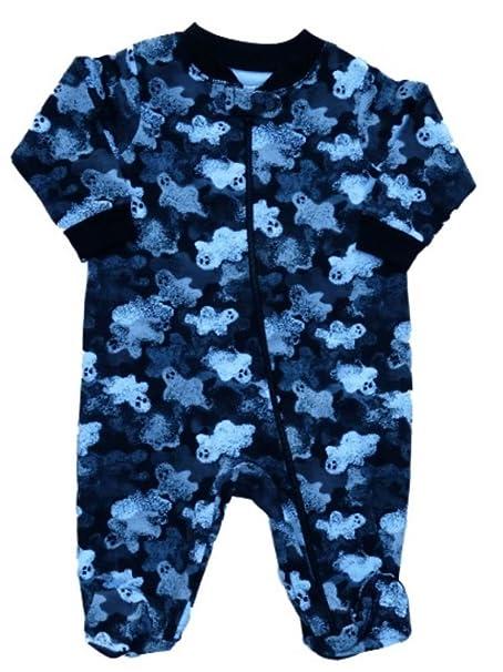 faded glory infant boy girl black ghost halloween sleeper pajamas baby pjs nb