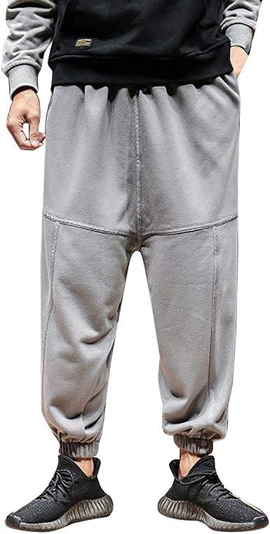 Pantaloni Harem Uomo Larghi Lino,Homebaby Hip Hop Sportivo